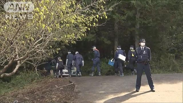 The body of Kumiko Jin, 62, was found in a forested area of Suruga Ward on Tuesday