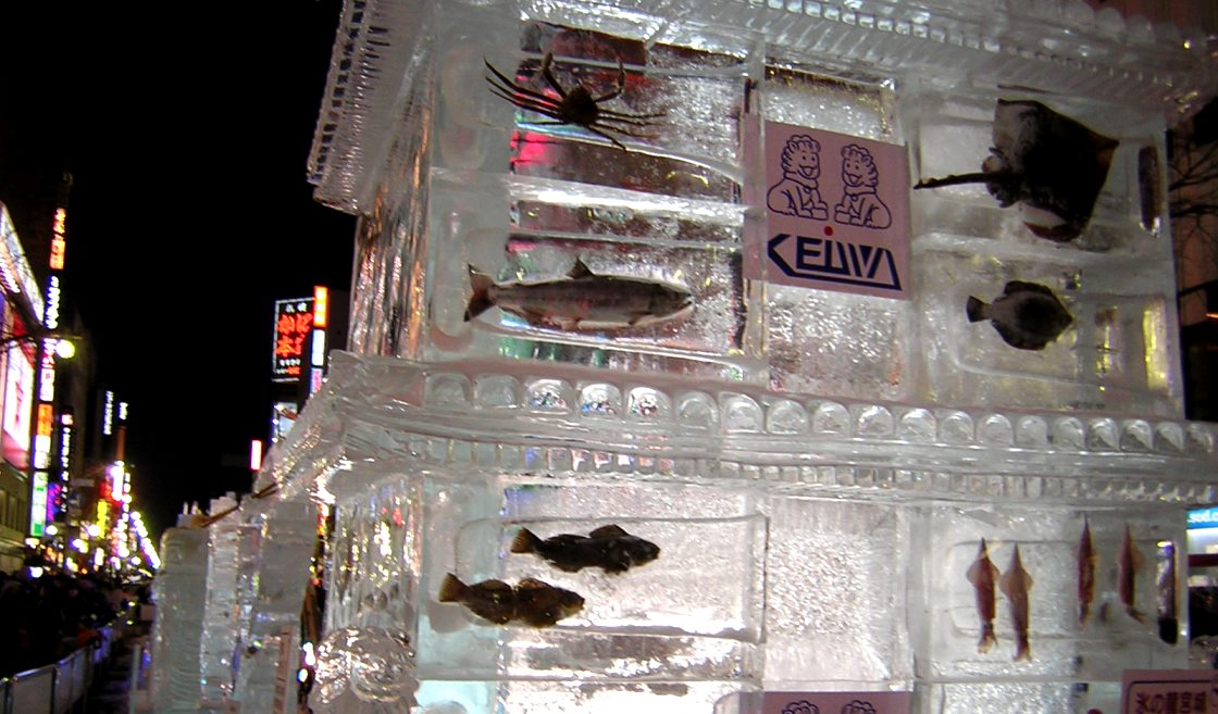 "A tourist association could pull its ""Frozen Fish"" display it runs for the annual Sapporo Snow Festival in Hokkaido"