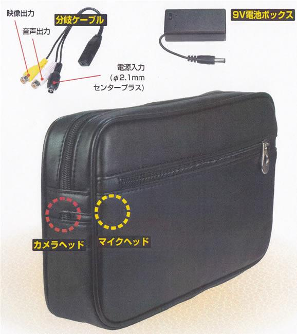 A clerk at a nursing school used a camera hidden in a bag to take illicit films of women at a shopping center in Toyama City