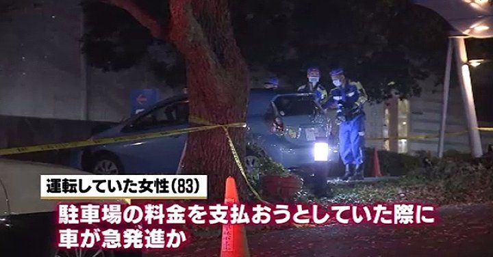 An 83-year-old female driver killed two pedestrians at a hospital in Tachikawa City