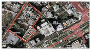 Aerial shot of TSK property