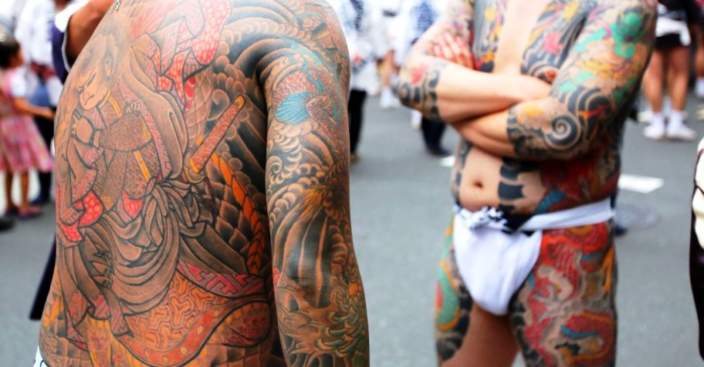 Members of Japan's organized crime syndicates are known for the their colorful irezumi tattoos