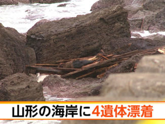 Four suspected North Korean corpses were found on the shore of Tsuruoka City on Sunday